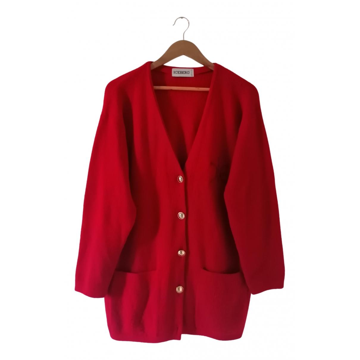 Iceberg - Pull   pour femme en laine - rouge