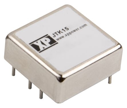 XP Power JTK 15W Isolated DC-DC Converter Through Hole, Voltage in 9 → 36 V dc, Voltage out 15V dc