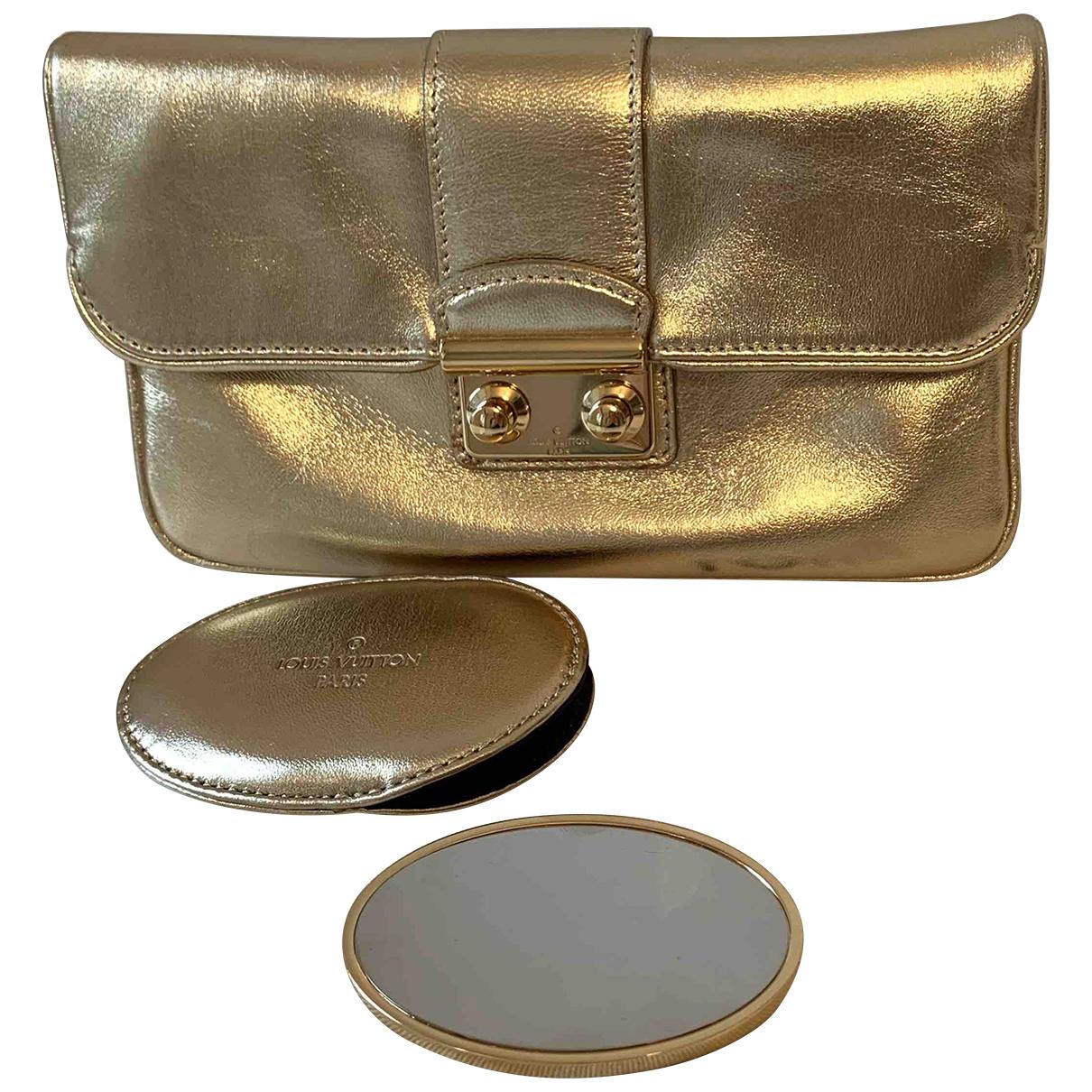 Louis Vuitton - Pochette Sofia Coppola pour femme en cuir - dore