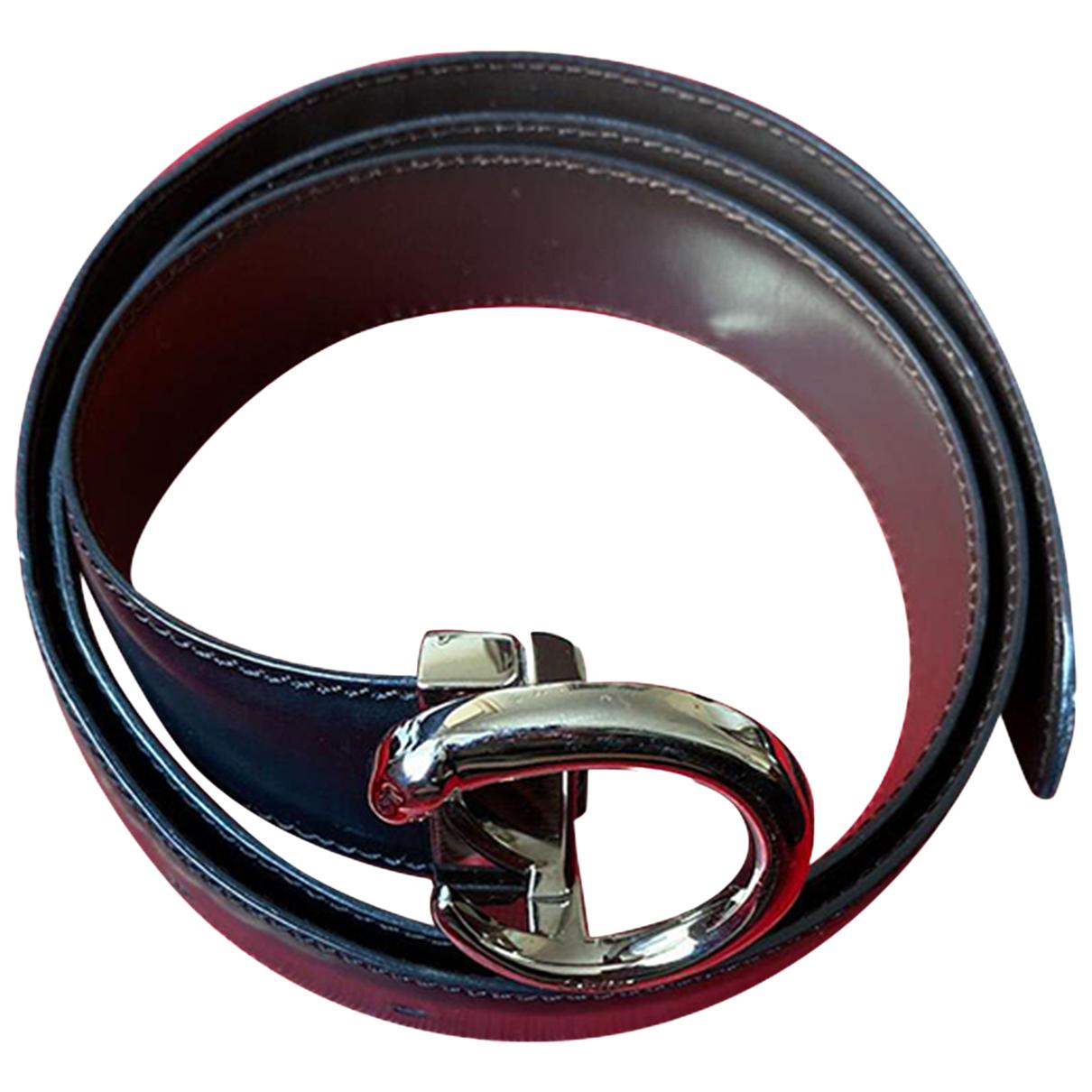 Cartier N Black Leather belt for Women 90 cm