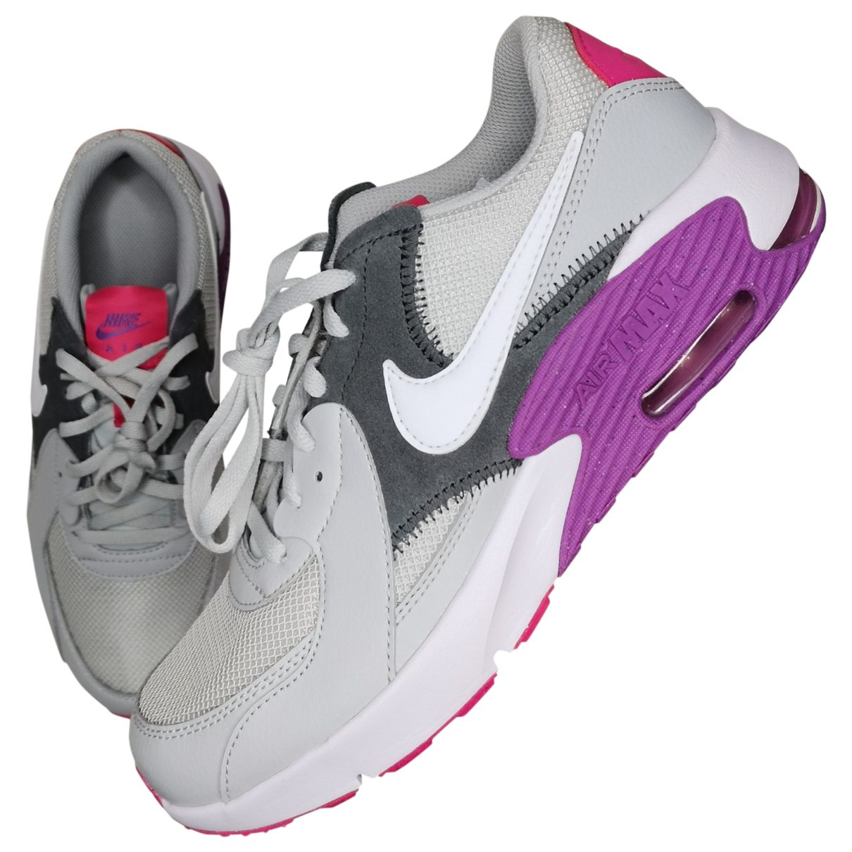 Nike Air Max  Grey Leather Trainers for Women 38.5 EU