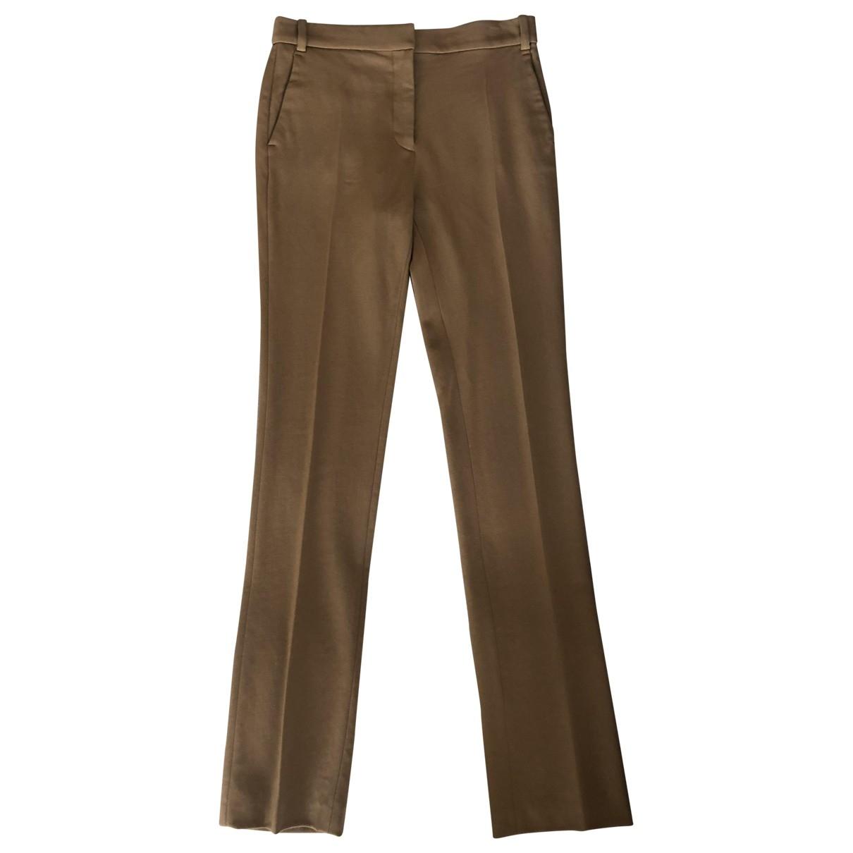 Stella Mccartney \N Camel Wool Trousers for Women 40 IT
