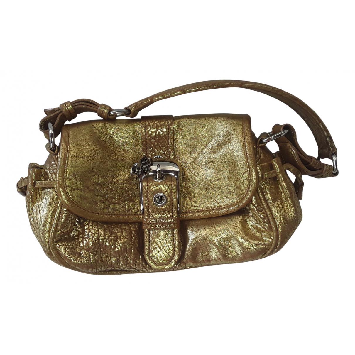 Miu Miu \N Handtasche in  Gold Leder