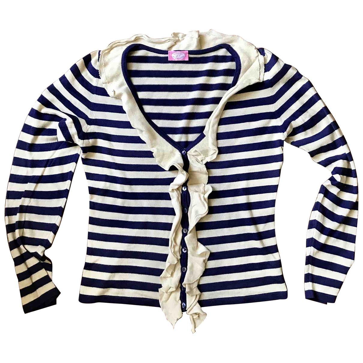 Blumarine - Pull   pour femme en coton - bleu