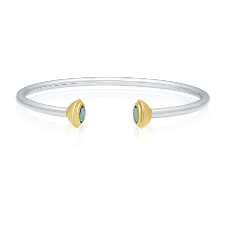Marvel Universe Fine Jewelry By Marvel Genuine Green Topaz 14K Two Tone Gold Over Silver Marvel Bangle Bracelet, One Size , No Color Family