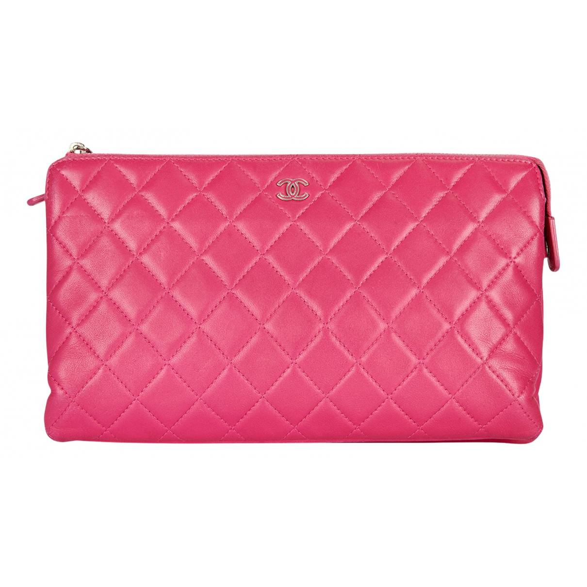 Chanel N Pink Leather Clutch bag for Women N