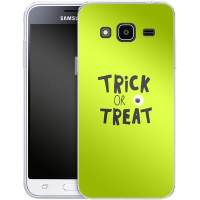 Samsung Galaxy J3 (2016) Silikon Handyhuelle - Trick or Treat von caseable Designs