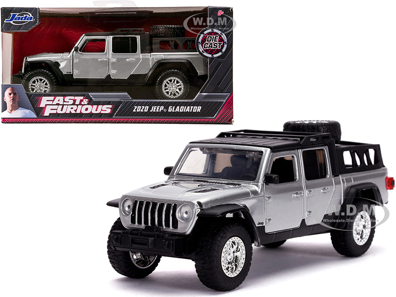 2020 Jeep Gladiator Pickup Truck Silver with Black Top