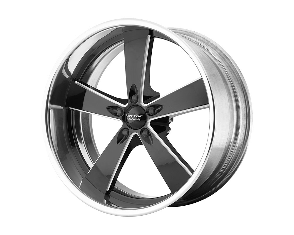 American Racing VN472 Burnout Wheel 18x8 Blank +0mm Two-Piece Black Milled Center Polished Rim