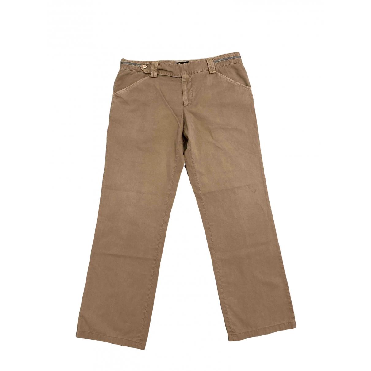 D&g \N Beige Cotton Trousers for Men 54 IT