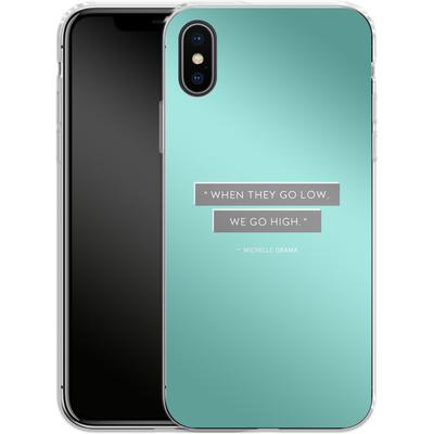 Apple iPhone X Silikon Handyhuelle - Aim High von caseable Designs