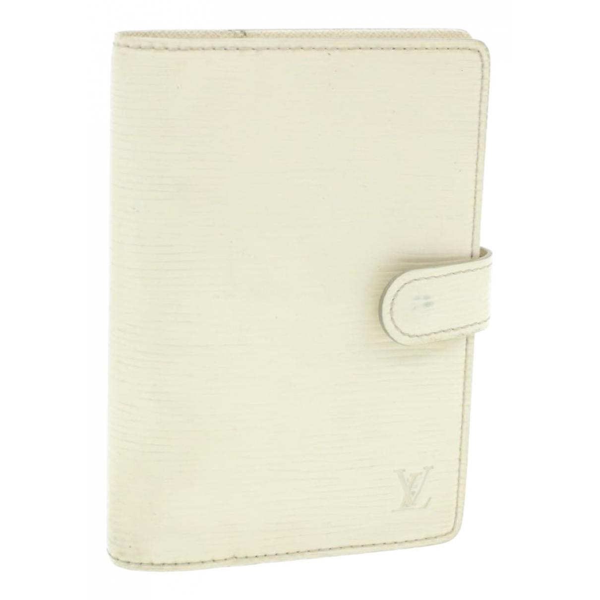 Louis Vuitton - Objets & Deco Couverture dagenda MM pour lifestyle en cuir - blanc