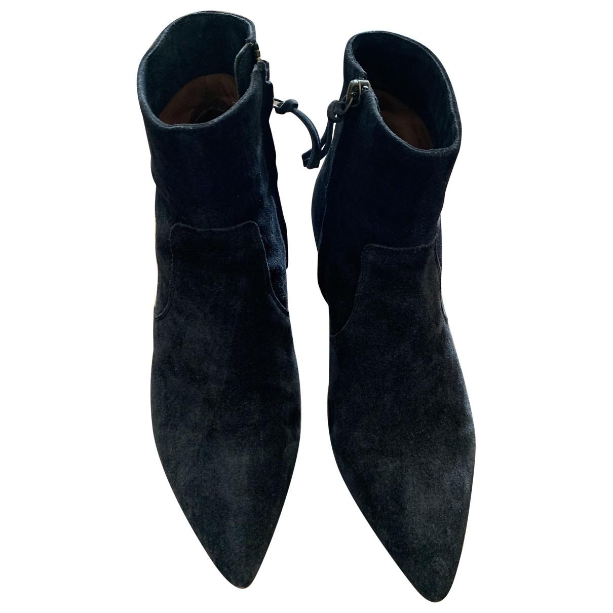 Isabel Marant Derst Black Suede Ankle boots for Women 37 EU