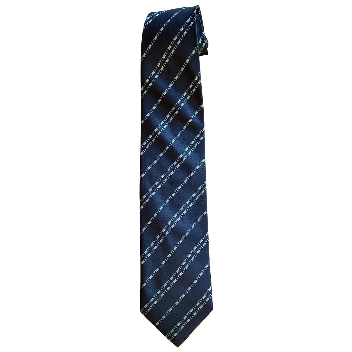 Emporio Armani \N Krawatten in  Marine Seide