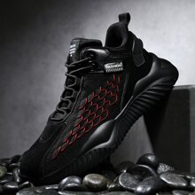 Men Lace-up Front Fish Scale Sneakers