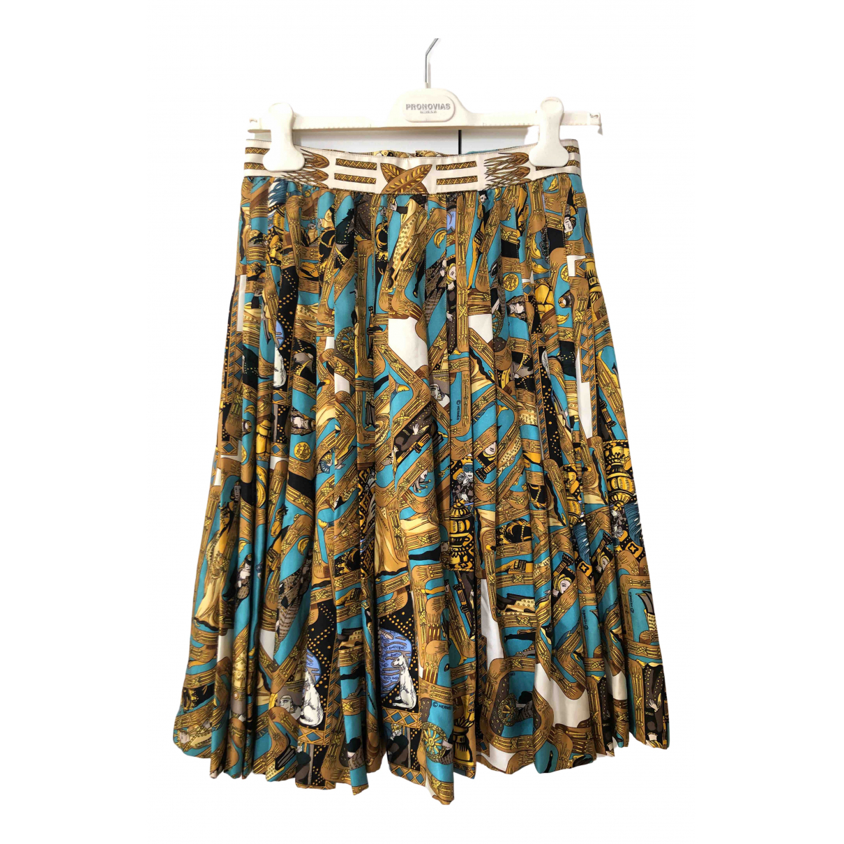 Falda midi de Seda Hermes