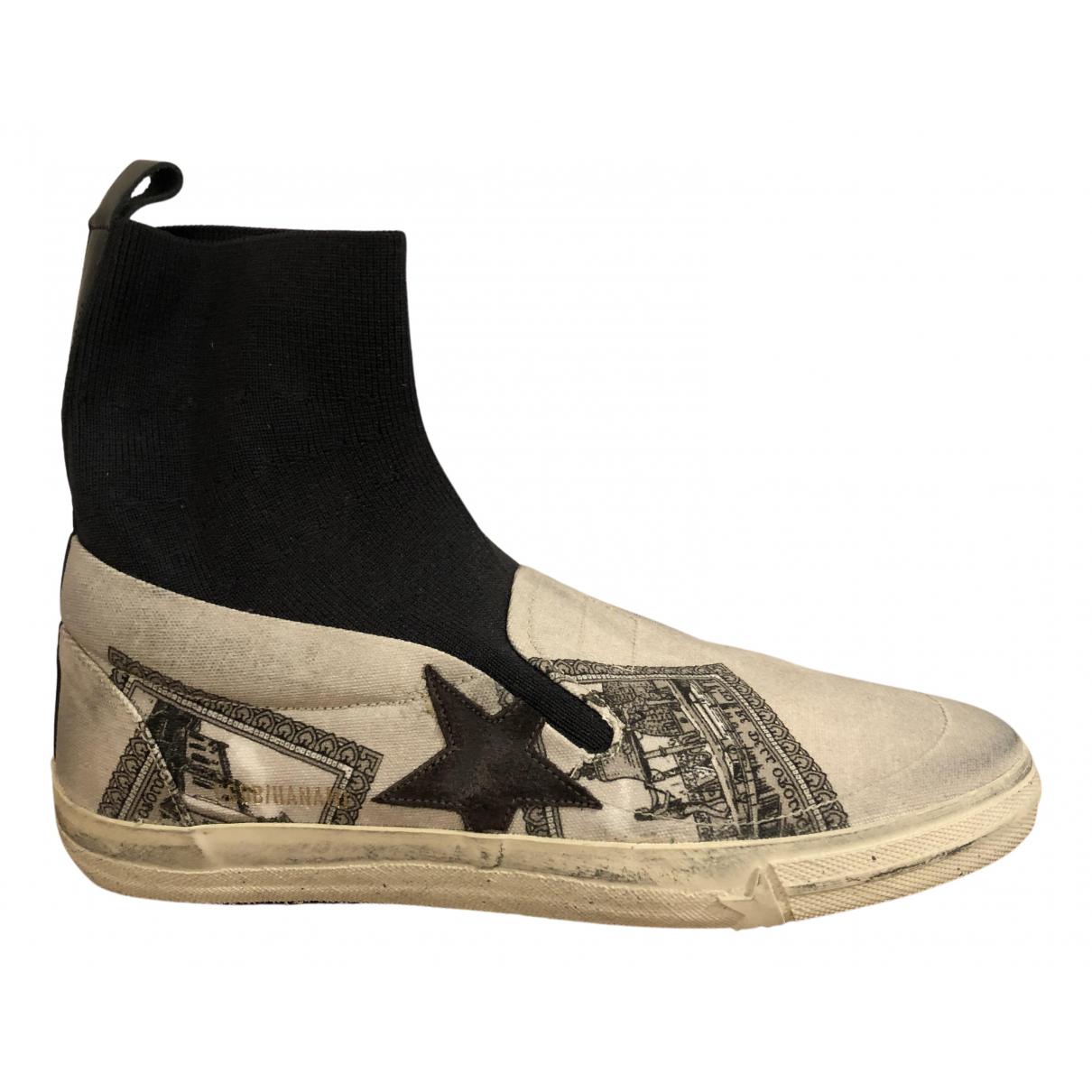 Golden Goose Hanami Sneakers in  Schwarz Leinen