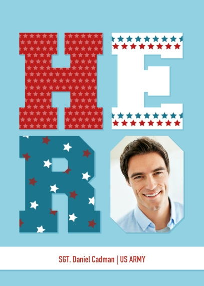 4th of July Photo Cards 5x7 Folded Cards, Standard Cardstock 85lb, Card & Stationery -Hero - Folded