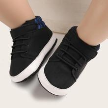 Baby Jungen Sneakers mit Klettverschluss und weiter Passform