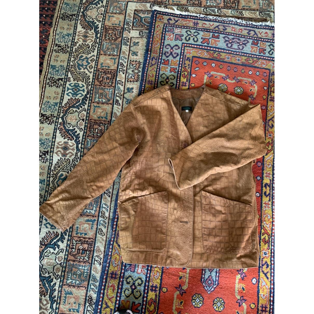 Bottega Veneta - Veste   pour femme en cuir - camel