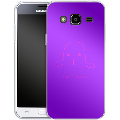 Samsung Galaxy J3 (2016) Silikon Handyhuelle - Cute Ghost von caseable Designs