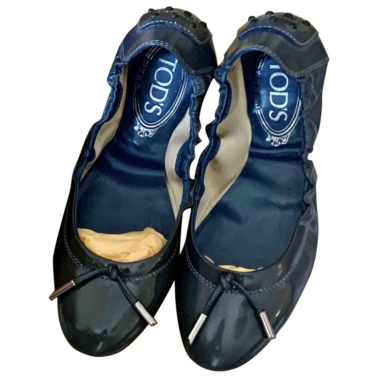 Tod's \N Blue Leather Ballet flats for Women 34 EU