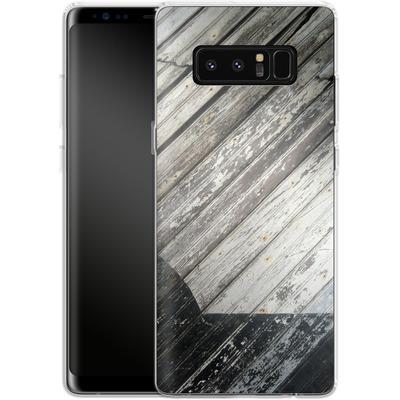 Samsung Galaxy Note 8 Silikon Handyhuelle - Diagonal Wood von Brent Williams