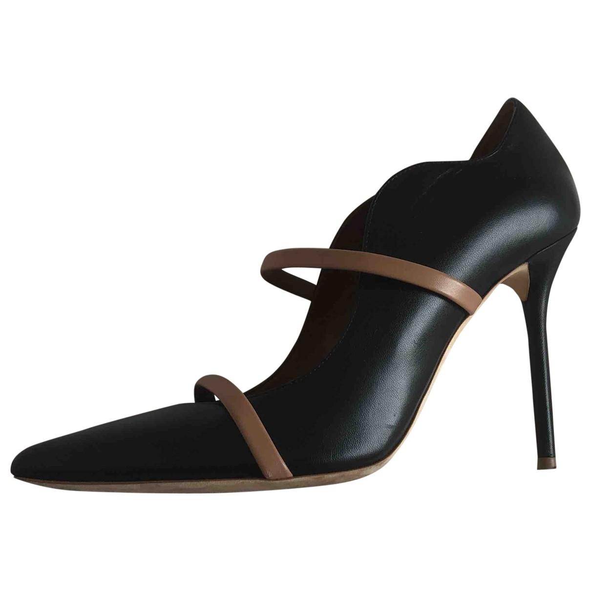 Malone Souliers Maureen Black Leather Heels for Women 39 EU