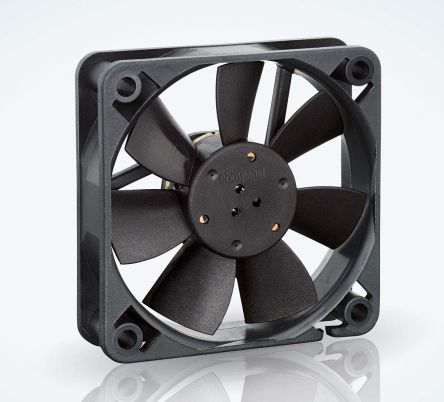 ebm-papst , 24 V dc, DC Axial Fan, 60 x 60 x 15mm, 29m³/h, 1.1W, IP20