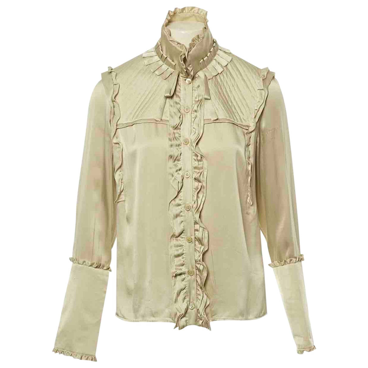 Givenchy \N Top in  Beige Seide