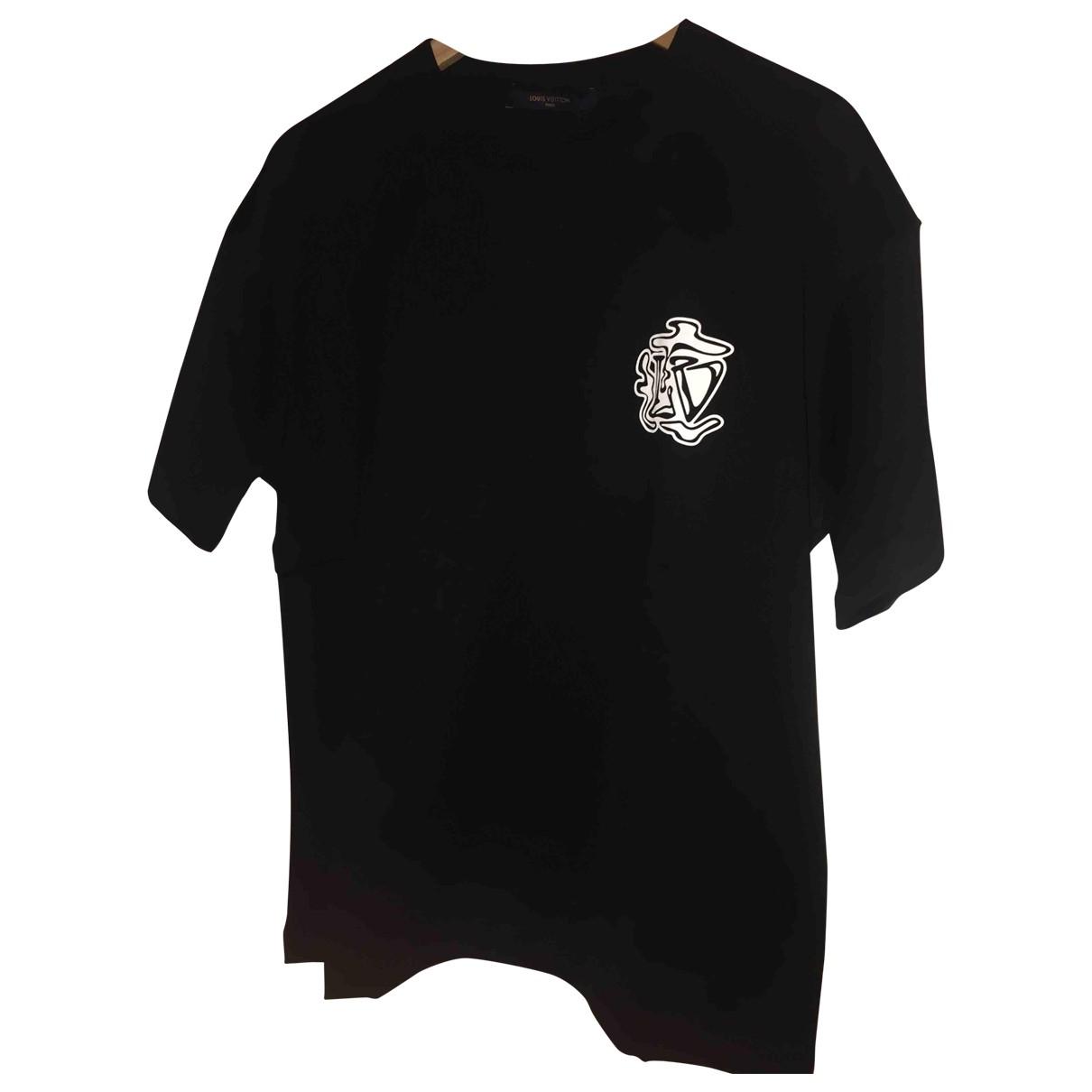Louis Vuitton - Tee shirts   pour homme en coton - noir