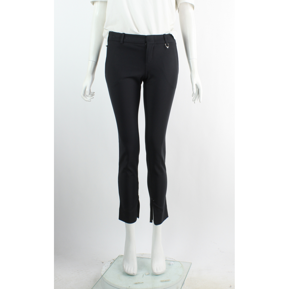 Gucci \N Black Cotton Trousers for Women 38 FR