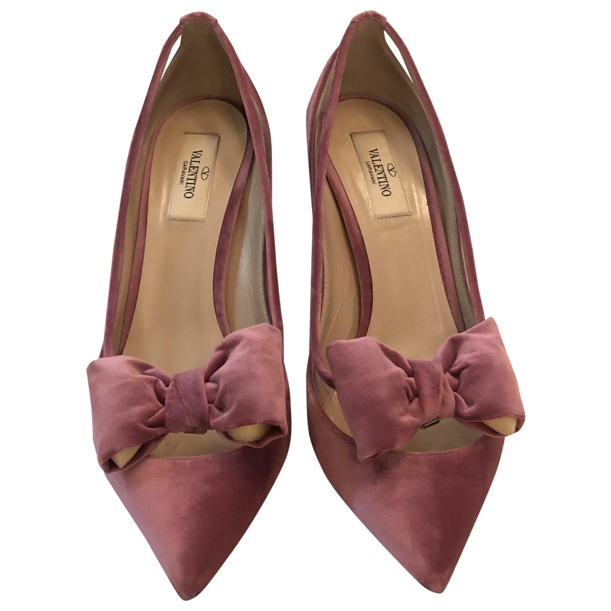 Valentino Garavani \N Pink Velvet Heels for Women 40 EU