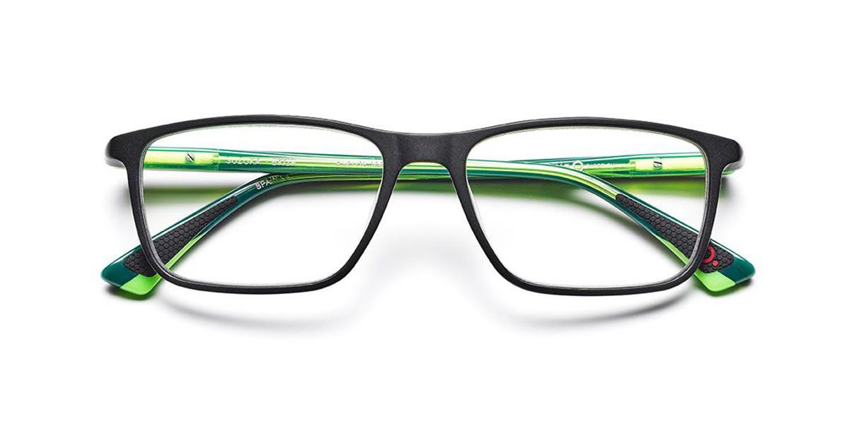 Etnia Barcelona Suzuka BKGR Men's Glasses Black Size 54 - Free Lenses - HSA/FSA Insurance - Blue Light Block Available