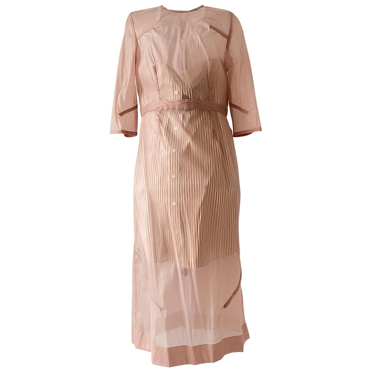 Victoria Beckham - Robe   pour femme en soie - rose
