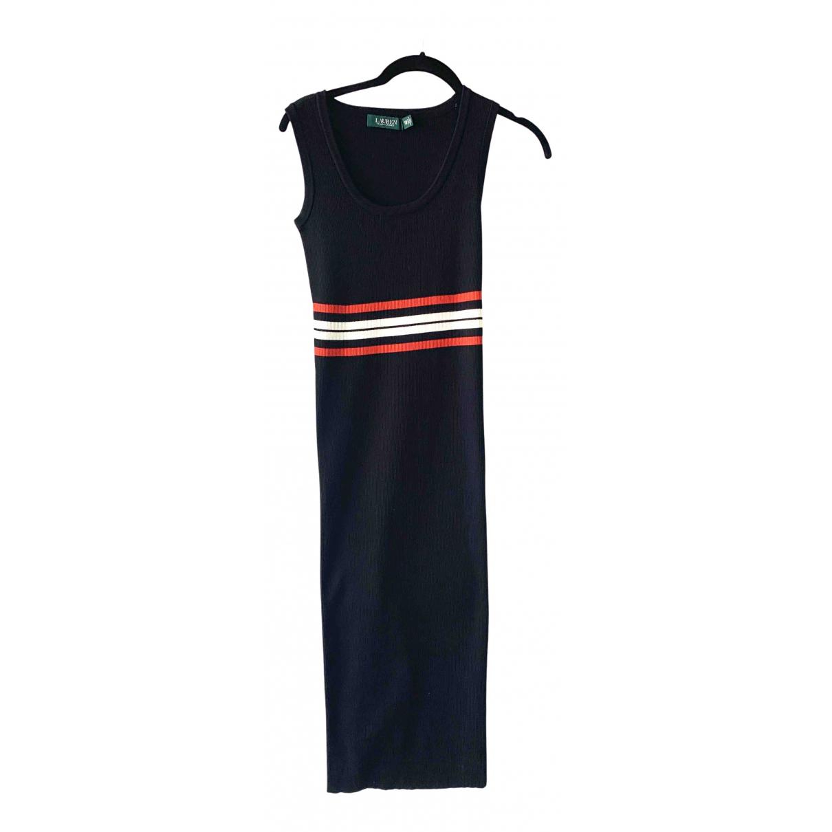Lauren Ralph Lauren \N Kleid in  Schwarz Baumwolle