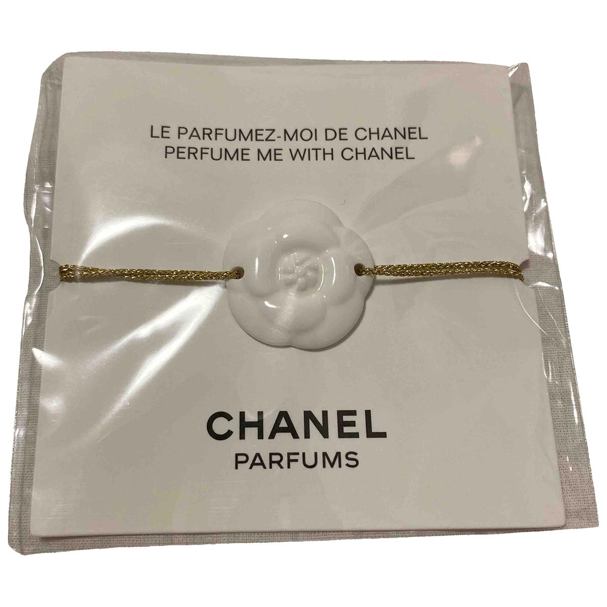 Chanel Camelia Armband in  Weiss Keramik