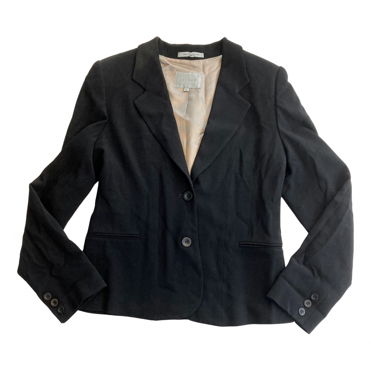 Jigsaw N Black Wool jacket for Women 12 UK