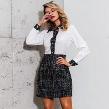 Glamaker vestido estilo camisa con boton delantero