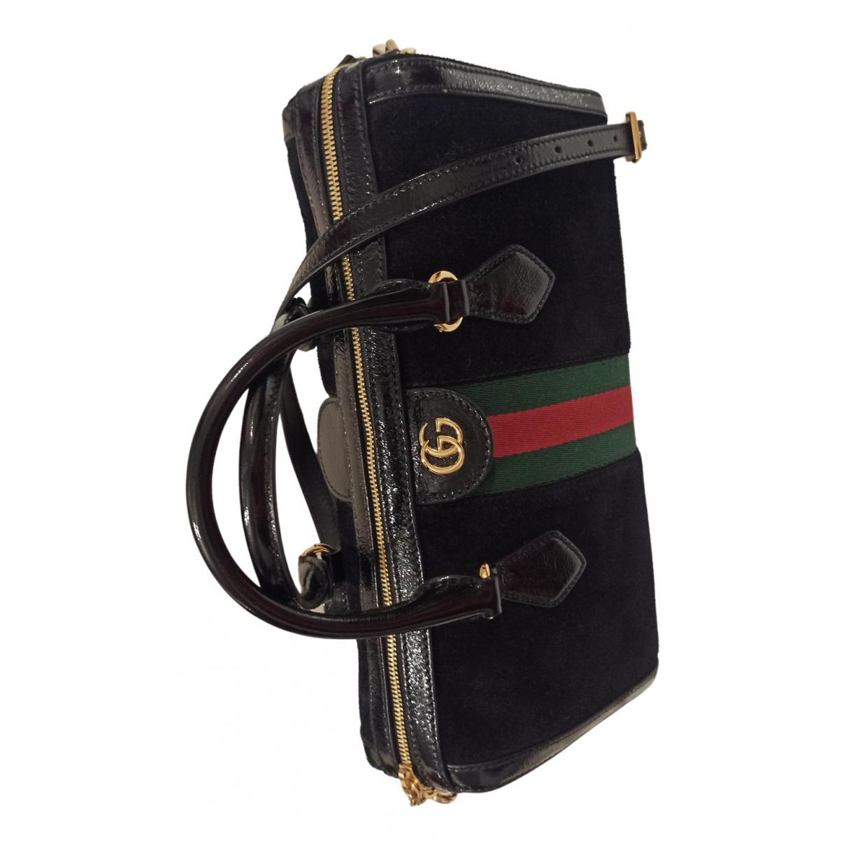 Gucci - Sac a main Ophidia pour femme en suede - noir