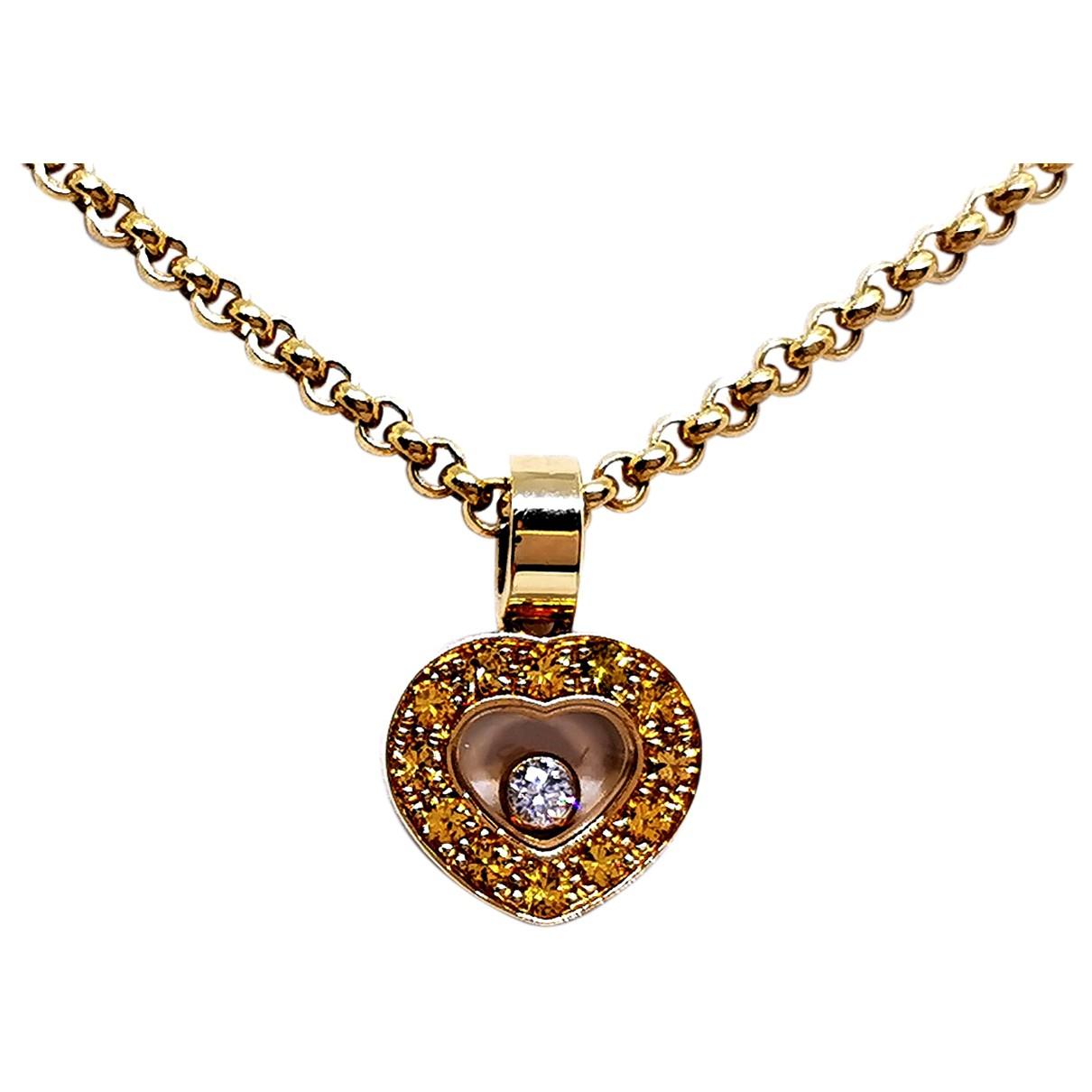Chopard - Collier Happy Diamonds pour femme en or jaune - dore