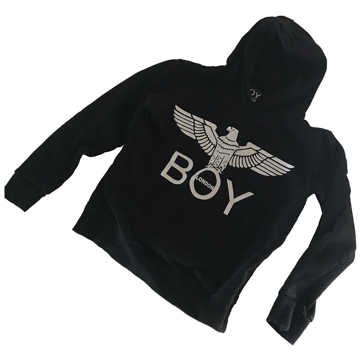 Boy London - Pull   pour enfant en coton - noir