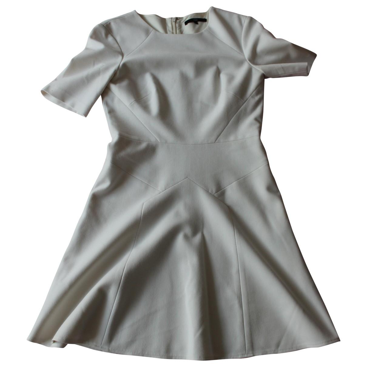 Tibi \N Kleid in  Weiss Baumwolle