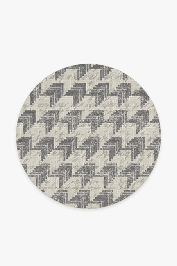 Washable Rug Cover & Pad | Broken Check Rug | Stain-Resistant | Ruggable | 6' Round