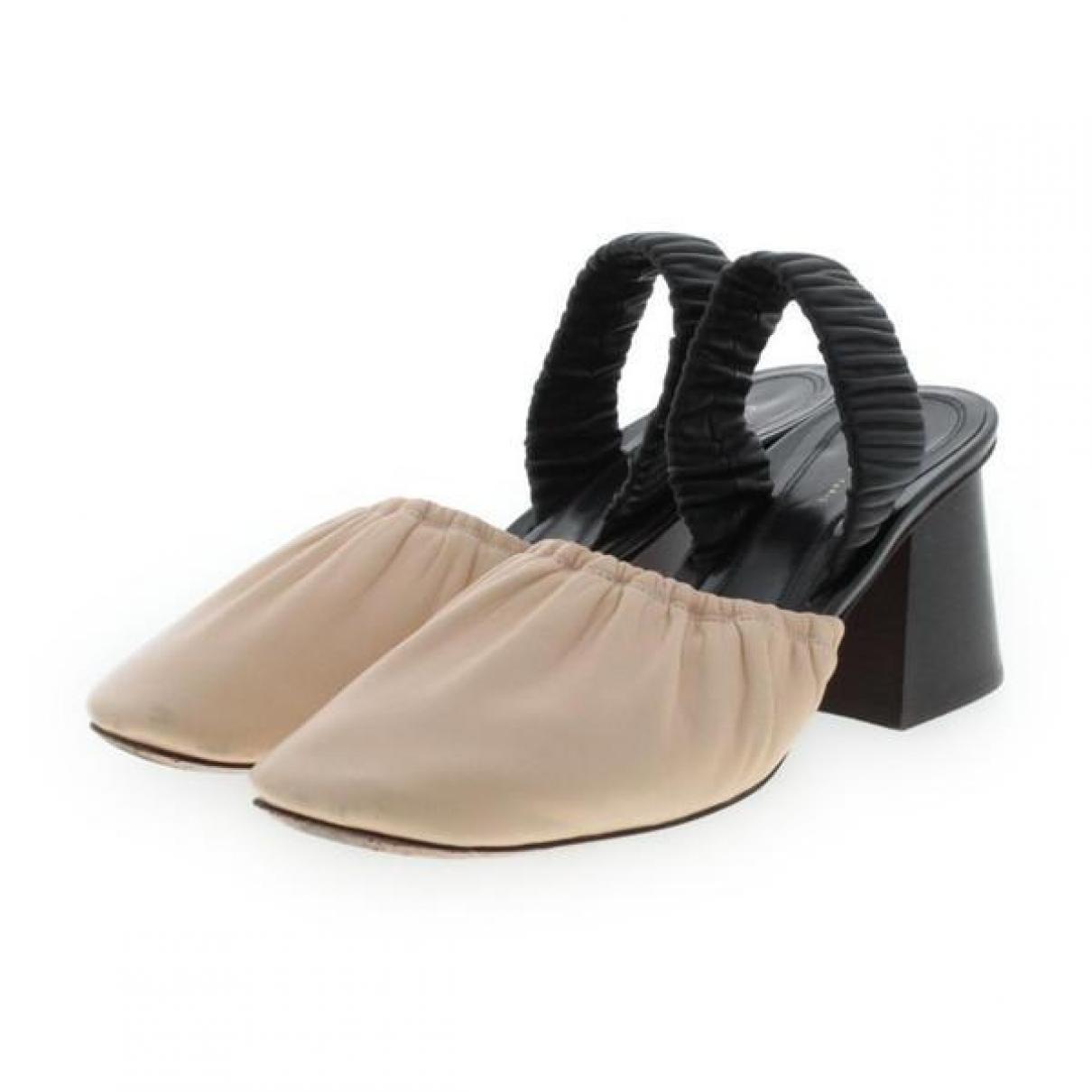 Celine \N Beige Leather Heels for Women 36 IT