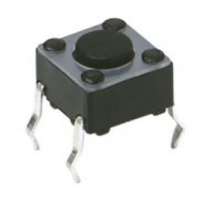C & K IP40 Grey Button Tactile Switch, Single Pole Single Throw (SPST) 50 mA 3.5 (Dia.)mm Through Hole