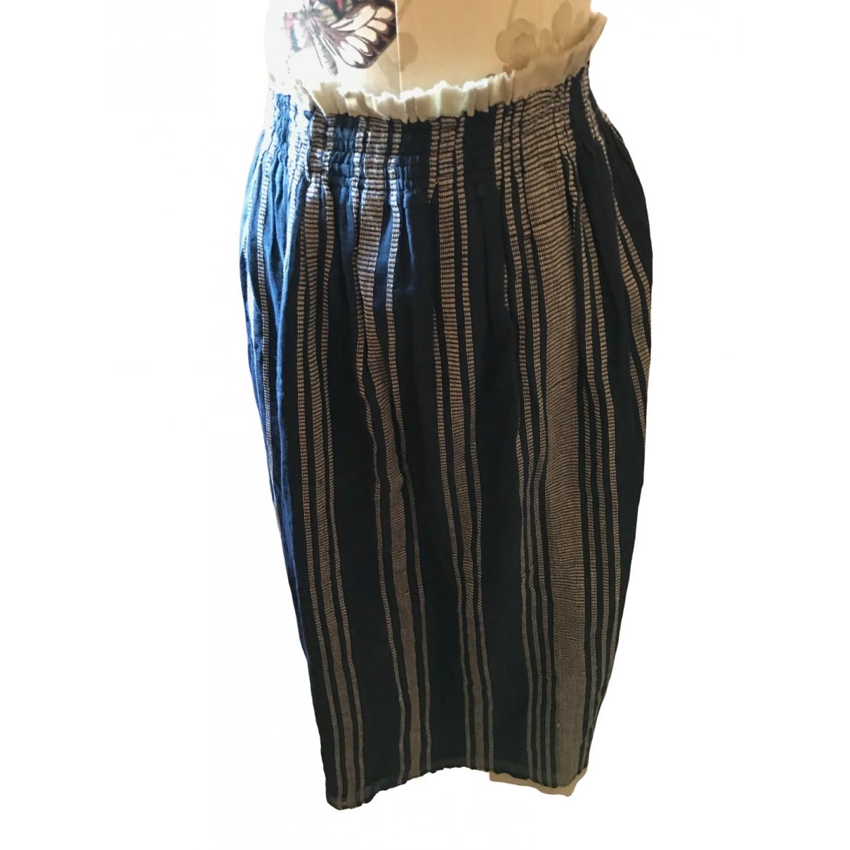 Mare Di Latte - Jupe   pour femme en coton - bleu