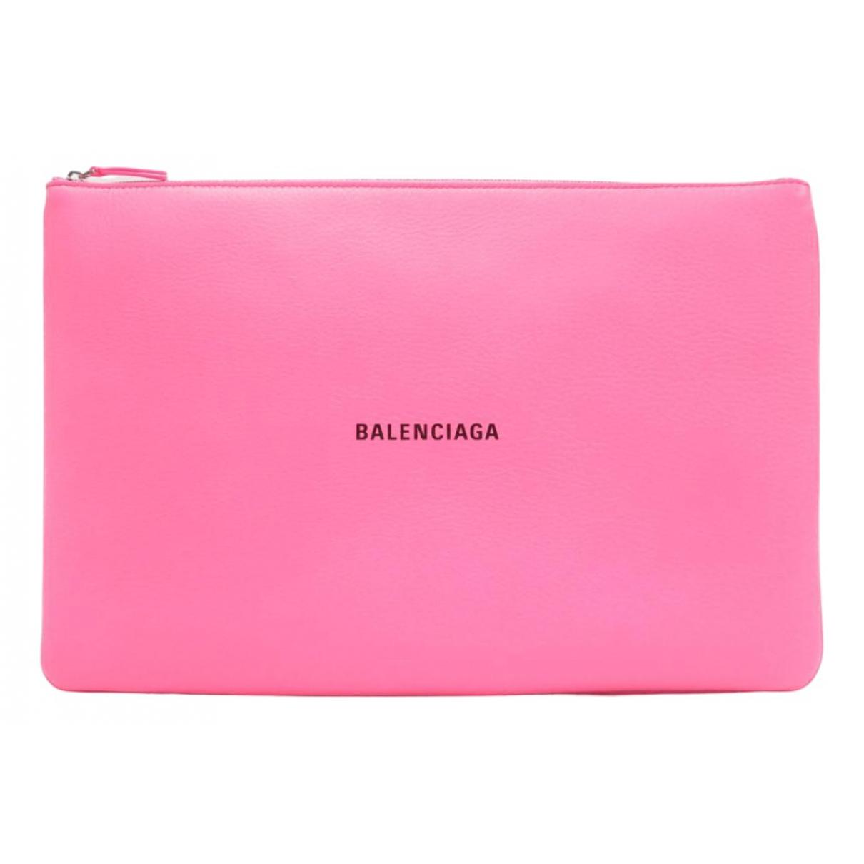 Balenciaga \N Clutch in  Rosa Leder