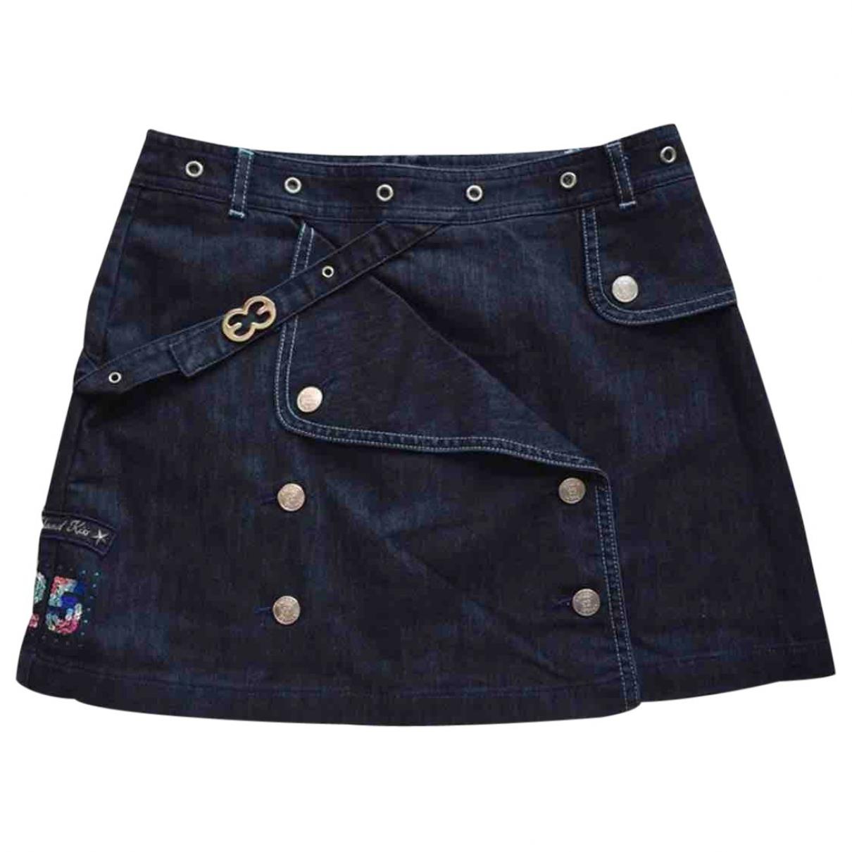 Escada \N Navy Denim - Jeans skirt for Kids 16 years - M FR