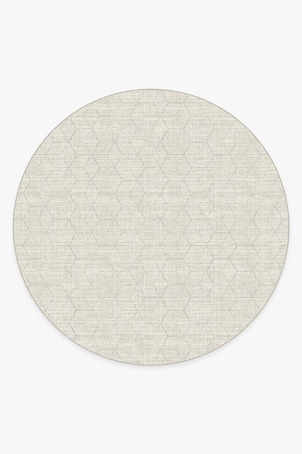 Washable Rug Cover | Prisma Monochrome Rug | Stain-Resistant | Ruggable | 8' Round